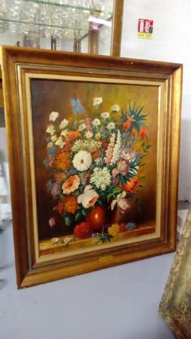 Henri Edouard BARGIN (1906-1980), Tulipes et fleurs variées, huile