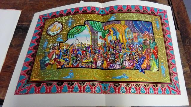 Sinbad le marin, illustrations et enluminures de Ansaldi, chez Joseph