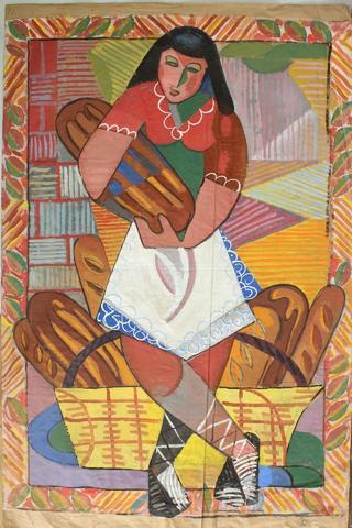 Tomas Divi Novembre 1946 « La boulangère », étude cubicisante