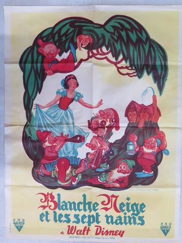 Affiche  Walt Disney « Blanche Neige et les Sept Nains » 79x60 cm