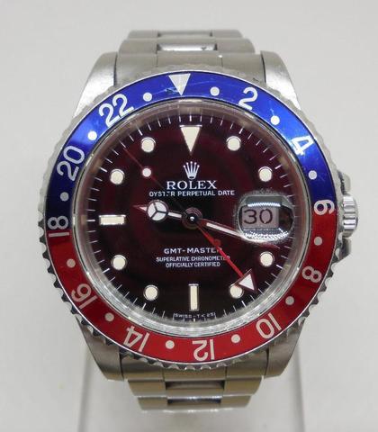 ROLEX, GMT Master. Ref. 16700.  No. E531125. Montre bracelet en acier