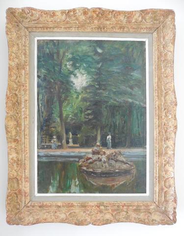 Emile OTHON-FRIESZ (1879-1949). Le Parc de Versailles, vers 1904.