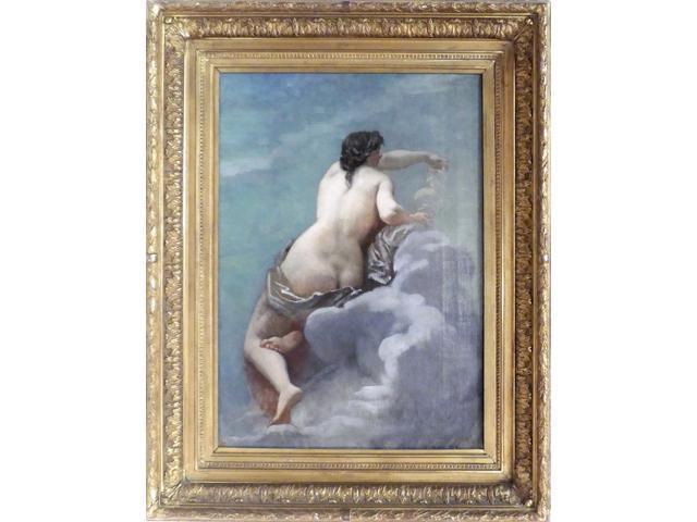 Alexis CABANEL (1823-1889). Baigneuse. Huile sur toile signée en