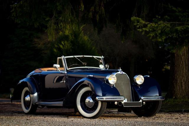 1938Talbot T15 Cabriolet Babychâssis n°91219Rare châssis courtCarte