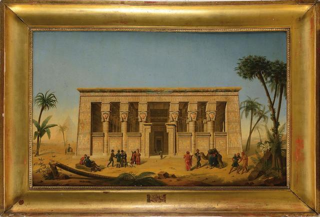 François Martin TESTARD Ecole Française du XIXe  siècle « Le temple
