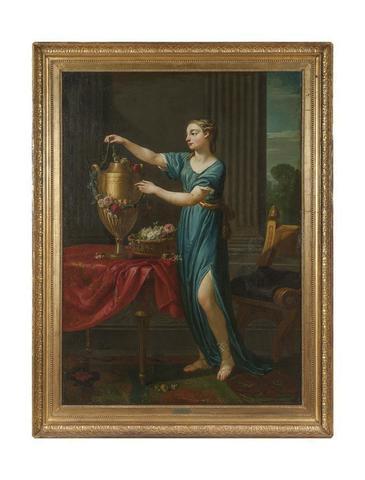 JOSEPH MARIE VIEN (Montpellier  1716 - Paris 1809) Jeune grecque