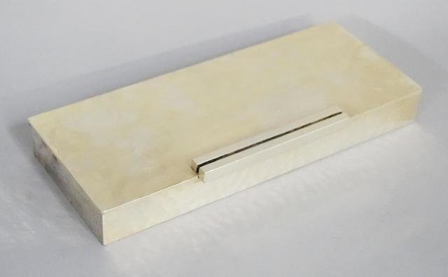 Jean DESPRES (1889 – 1980) Boîte à cigarettes en métal argenté,