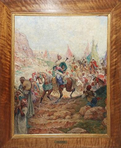 Alfred CHATAUD (1833 – 1908) « Le retour de l'Emir » Huile