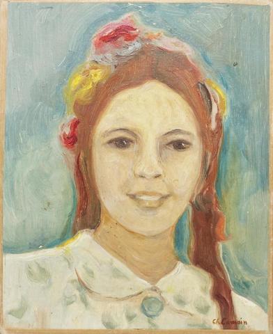 Charles CAMOIN (1879 – 1965) Portrait de fille aux rubans jaune