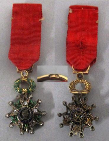 France, réduction d'une croix de chevalier de la Légion d'Honneur