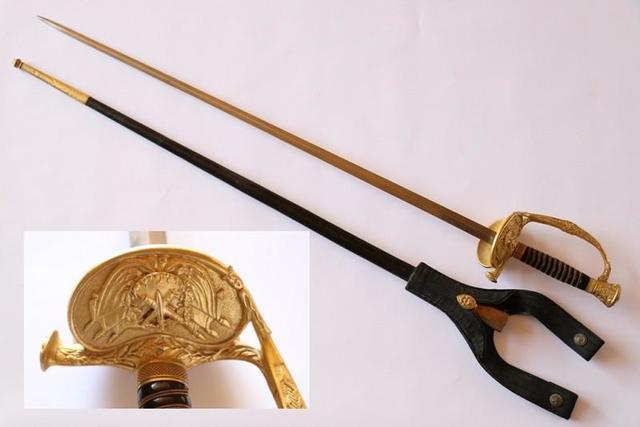 Rare épée d'officier supérieur des services de fabrication d'armement