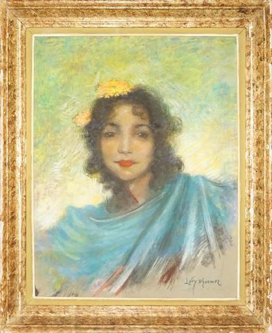 Lucien LEVY-DHURMER (1865 – 1953) Danseuse orientale Pastel sur