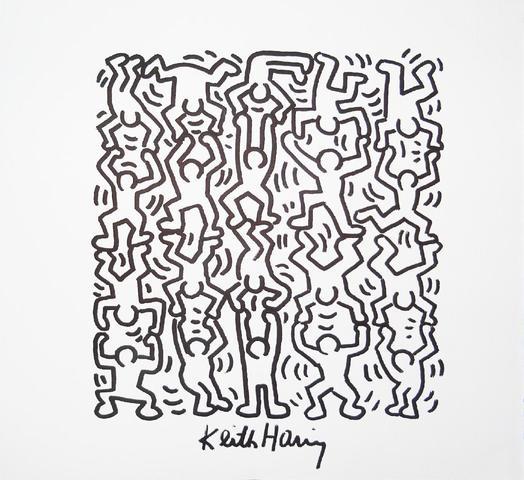 Keith HARING (1958 – 1990) Sans titre, circa 1985/89 Marqueur