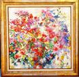 """HOSOTTE Georges """"Des roses de l'été"""" Grande Huile sur toile signée,"""
