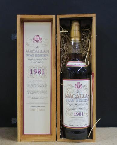* 1 Whisky Maccalan - 1981 - CBO (vente judiciaire - frais 14.40%