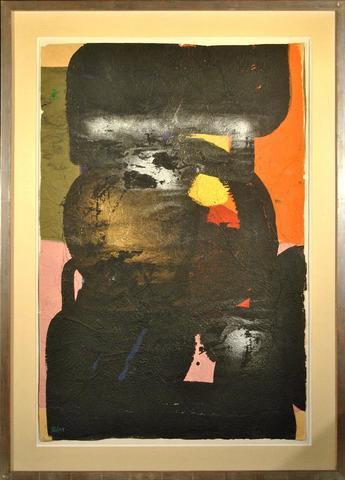 """Ladislas KIJNO (1921-2012), """"Papier froissé"""" Peinture acrylique,"""