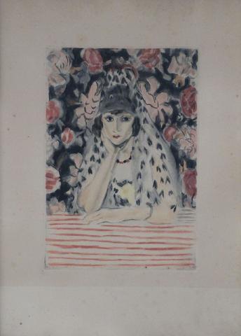MATISSE Henri (1869-1954) d'après. L'espagnole. Eau-forte par Jacques