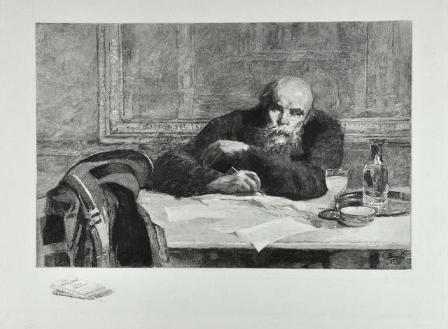 Paul VERLAINE Gravure sur acier avec remarques, 23 x 30 cm. + marges,