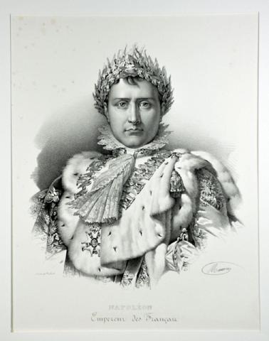 NAPOLÉON, Empereur des Français Lithographie (46,5 x 31 cm.) d'après
