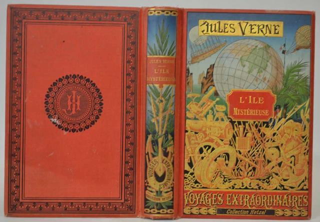 Jules VERNE (1828-1905), L'ile mystérieuse, édition Hetzel, un volume
