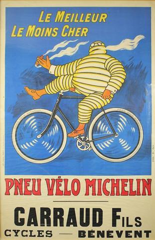 Objet publicitaire - Affiche 1910 Michelin -  Le Meilleur, le Moins