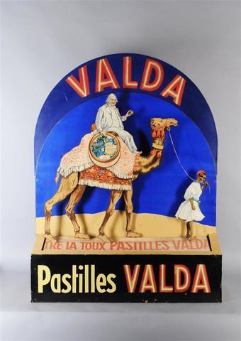 """PASTILLES VALDA  """"Contre La Toux Pastilles Valda"""" Présentoir automate"""