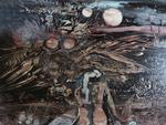 THOMAS Jean-Pierre, Clair de lune surréaliste, huile sur toile, début