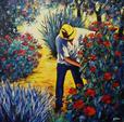 ARTERO Michel, Poésie au quotidien, 2001, huile sur toile, 100 x