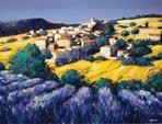 ARTERO Michel, Aurel village provençal, huile sur toile, 2001, 89