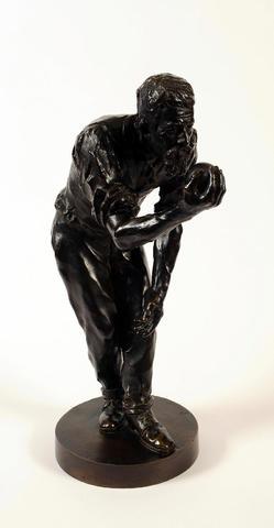Joseph Antoine BERNARD  (XIXe siècle). Le joueur de boules. Bronze.