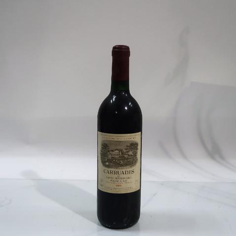 1* bouteille de château Carruades, Pauillac, 1989