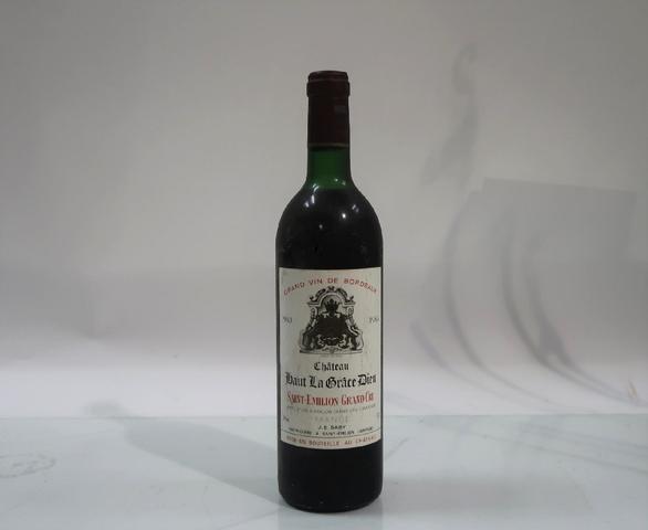 1* bouteille de château Haut La Grâce Dieu, Saint Emilion GC, 1983