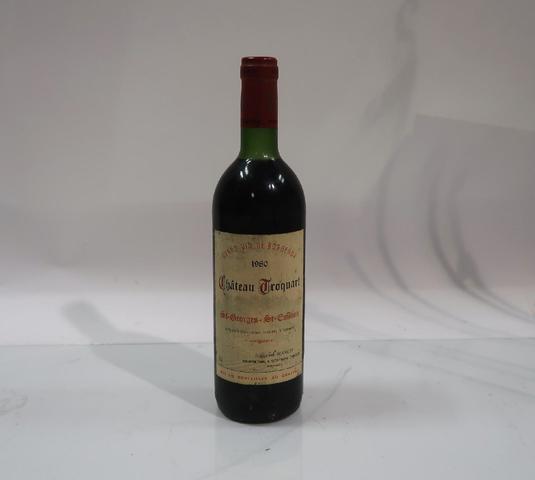 1* bouteille de château Troquart, Saint Georges Saint Emilion, 1980