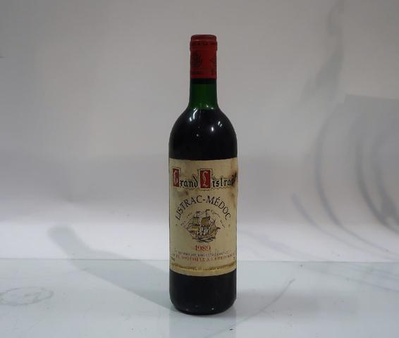 1* bouteille de château Grand Listrac, Listrac Medoc, 1989