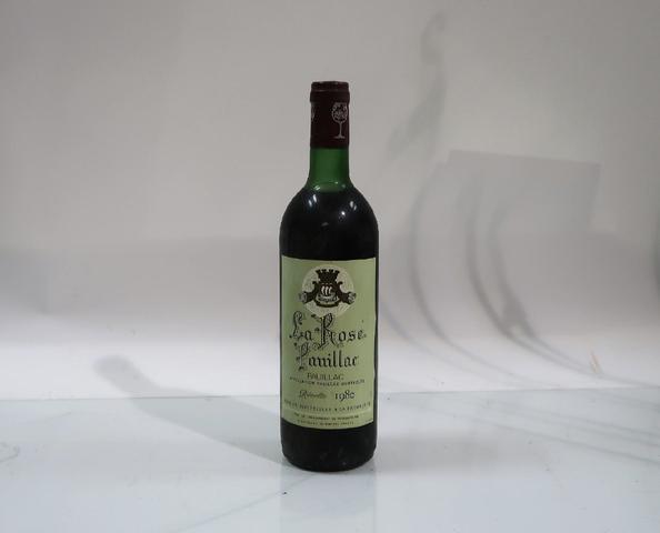 1* bouteille de château La Rose Pauillac, Pauillac, 1980