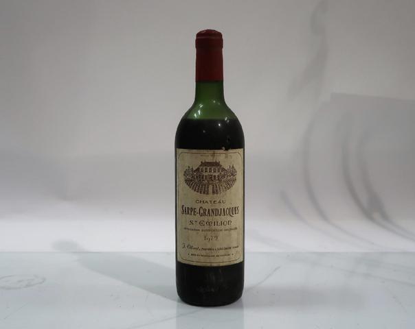 1* bouteille de château Sarpe Grandjacques, Saint Emilion, 1979
