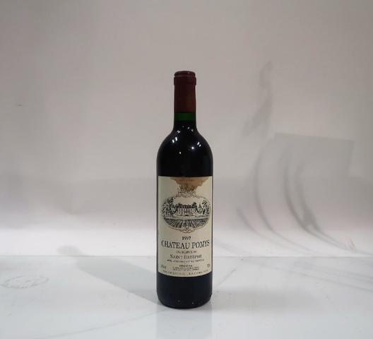1* bouteille de château Pomys, Saint Estèphe, 1997