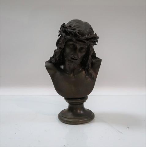 Léon PILET (1840-1916). Le Christ à la couronne d'épines. Sculpture