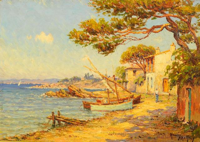 Henri MALFROY  (1895 - 1944). Vue des Martigues. Huile sur toile.