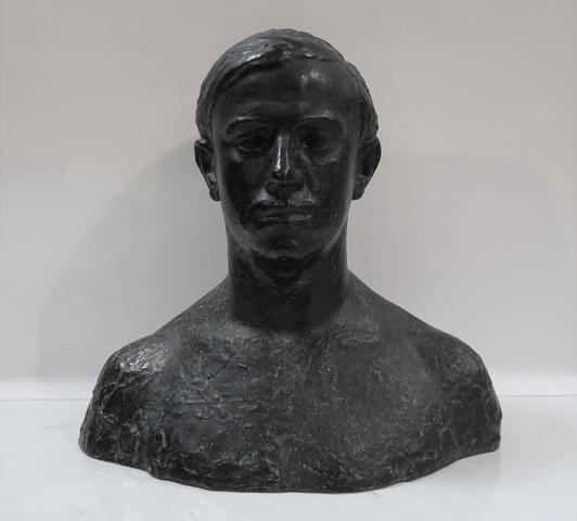 Robert WLERICK (1882-1944). Buste d'homme. Sculpture en bronze. Fonte