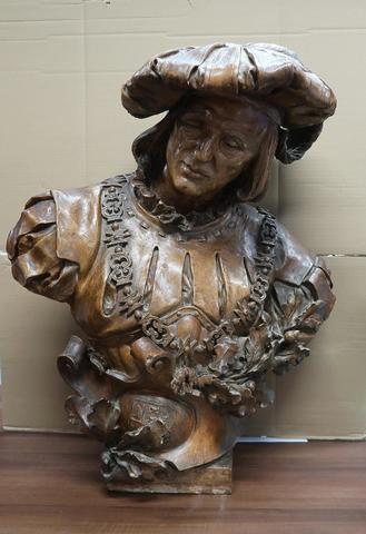 J. VISSEAUX (XVIII-XIX). Buste présumé de Philippe Le Bon de Bourgogne