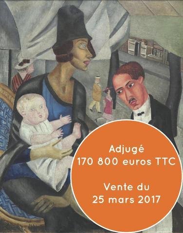 Marie VASSILIEFF (1884-1957), Café de la Rotonde, 1921, huile sur
