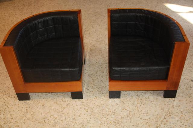 "SAWAYA & MORONI- Italie  - 2 fauteuils formant sofa modèle ""Cubo"