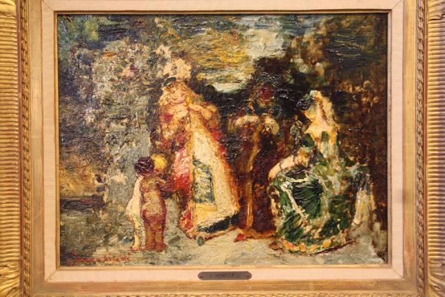 """Adolphe MONTICELLI (1824-1886) """"le repos des élégantes"""" huile sur"""