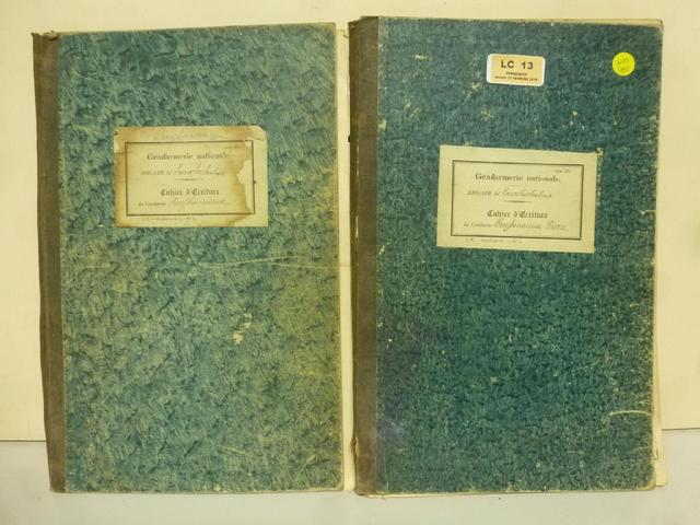 2 cahiers d'écriture de la brigade de La Roche Chalais, Gendarmerie
