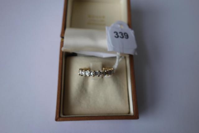 GU6256 - Alliance de la maison CARTIER en or jaune 18 carats, sertie