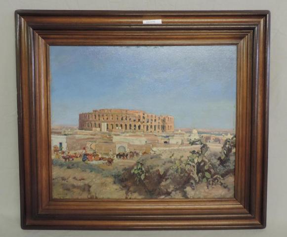 GW2710 - Giffard. Panneau: Amphithéatre romain en  Afrique du Nord.
