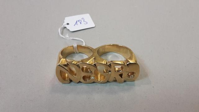 Double bague or (manque une pierre) 59,3g