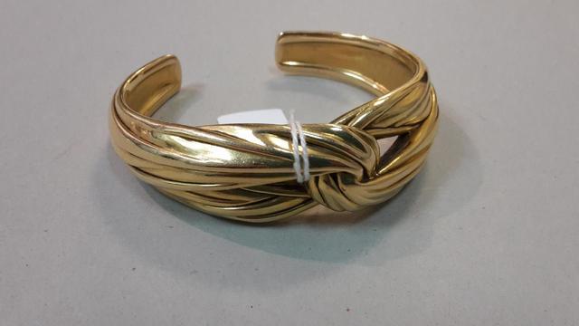 YVES SAINT LAURENT Bracelet jonc ouvert (N°yo3435) 31,6g