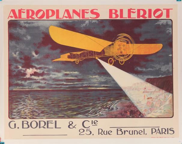 TRAVERSÉE DE LA MANCHE - Louis BLÉRIOT (25 JUILLET 1909) Affiche